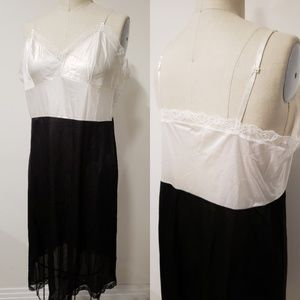 Vintage black and white chemise